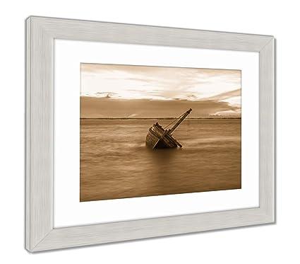 Ashley impresiones enmarcadas naufragio o destrozado barco en la ...