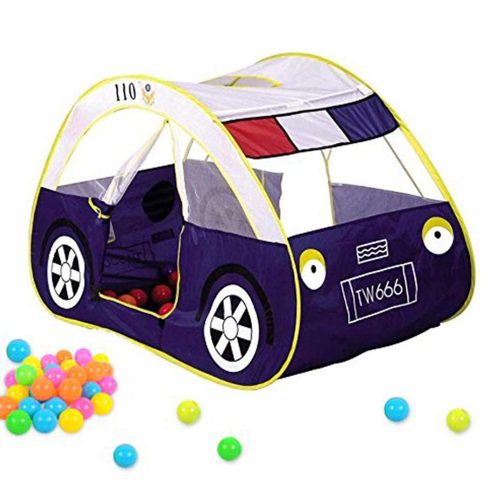 jenny mall Playhouse for Kids Outdoor and Indoor Police Car Play Tent Waterproof Tent Toy Foldable Pop Up Vehicle Castle Baby Toys for Infant Children Girls Boys