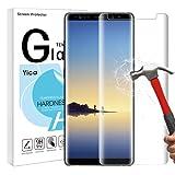 Galaxy Note 8 Schutzfolie Folie,Yica 3D HD 9H,Anti Fingerabdruck,Anti-Kratzer Panzerglas Hartglas Curved Displayschutzfolie für Samsung Galaxy Note 8