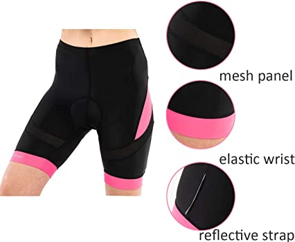 Pantalones cortos de compresión Silik de ciclismo para mujer con ...