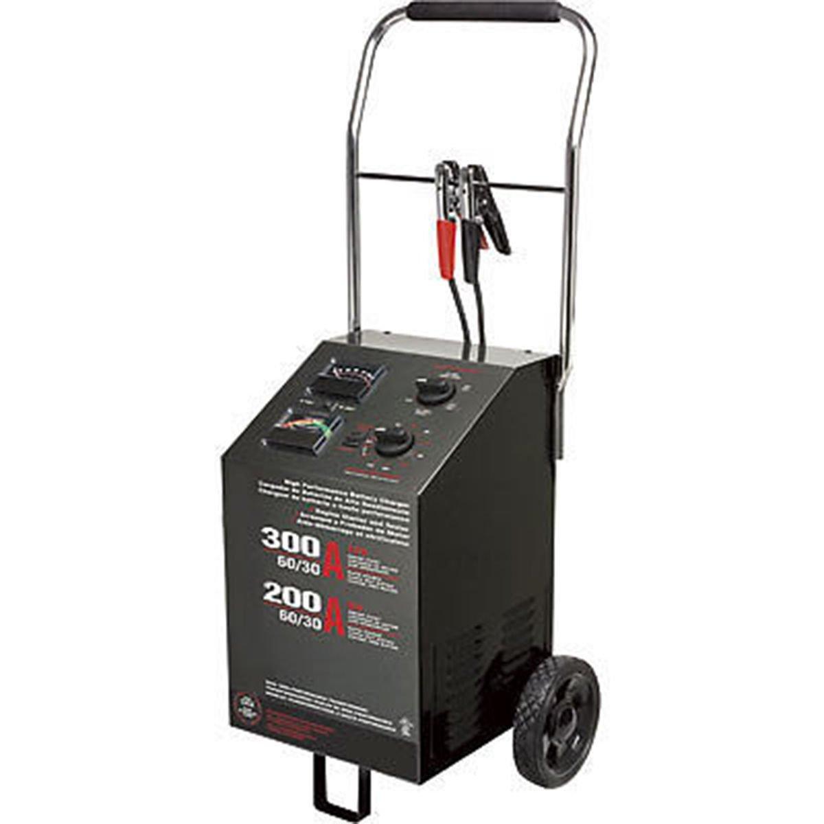 Battery Charger Starter Commercial - Portable - 300 Amp - 6V & 12V Batteries