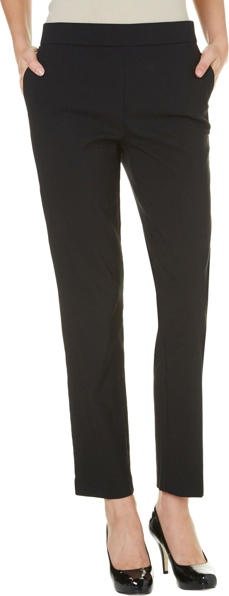Counterparts Womens Tummy Control Slim Leg Pants 14 Black