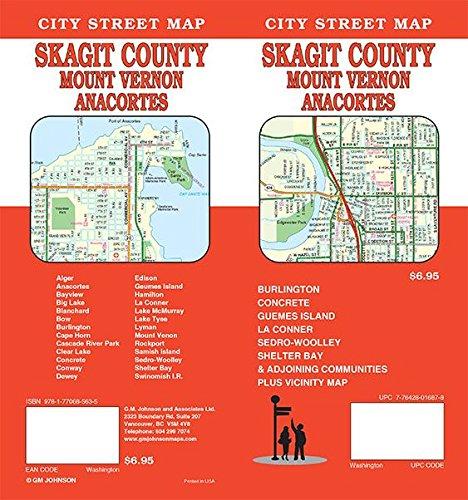 Skagit County / Mount Vernon / Anacortes, Washington Street Map