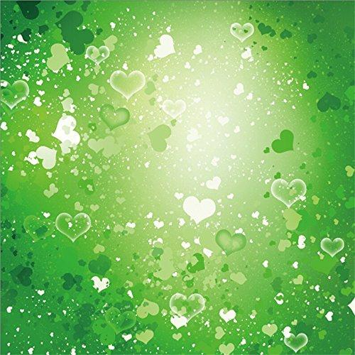 Leowefowa Vinyl 5X5FT Happy St. Patrick's Day Backdrop Bokeh Green Hearts Valentine's Day Fresh New Life Creative Wallpaper Spring Photography Background Kids Adults Photo Studio Props