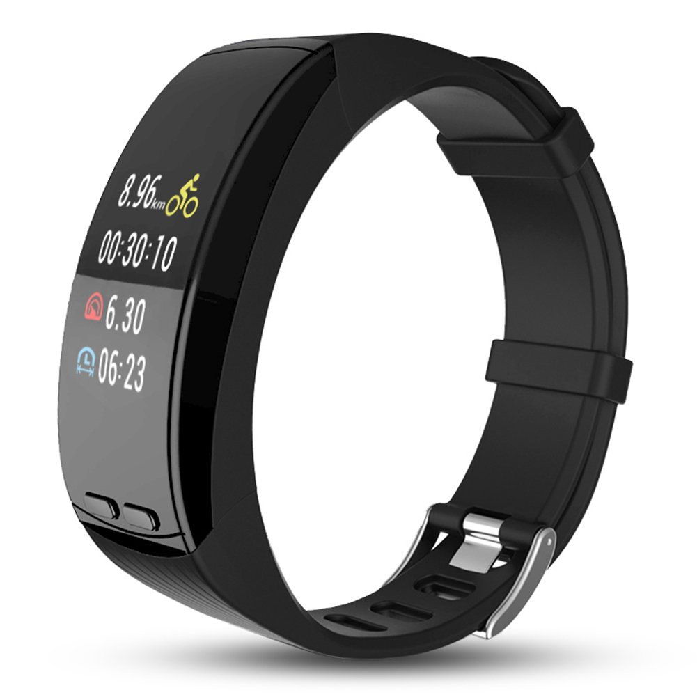 Ninecoo HD Color Display Fitness Tracker,Smart Fitness Watch Activity Tracker Sleep Heart Rate Monitor Sport GPS Tracker Calorie Counter Bluetooth Wristband for iOS & Android (Black)