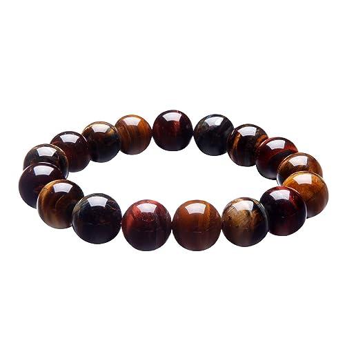 Naturstein Armband Damen Herren Armband Perlen Armband 10 mm