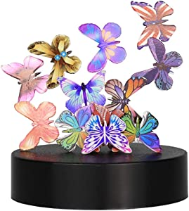 GWW Magnetic Sculpture,Butterflies Desk Decor Statue,Magnet Building for Intelligence Development and Stress Relief