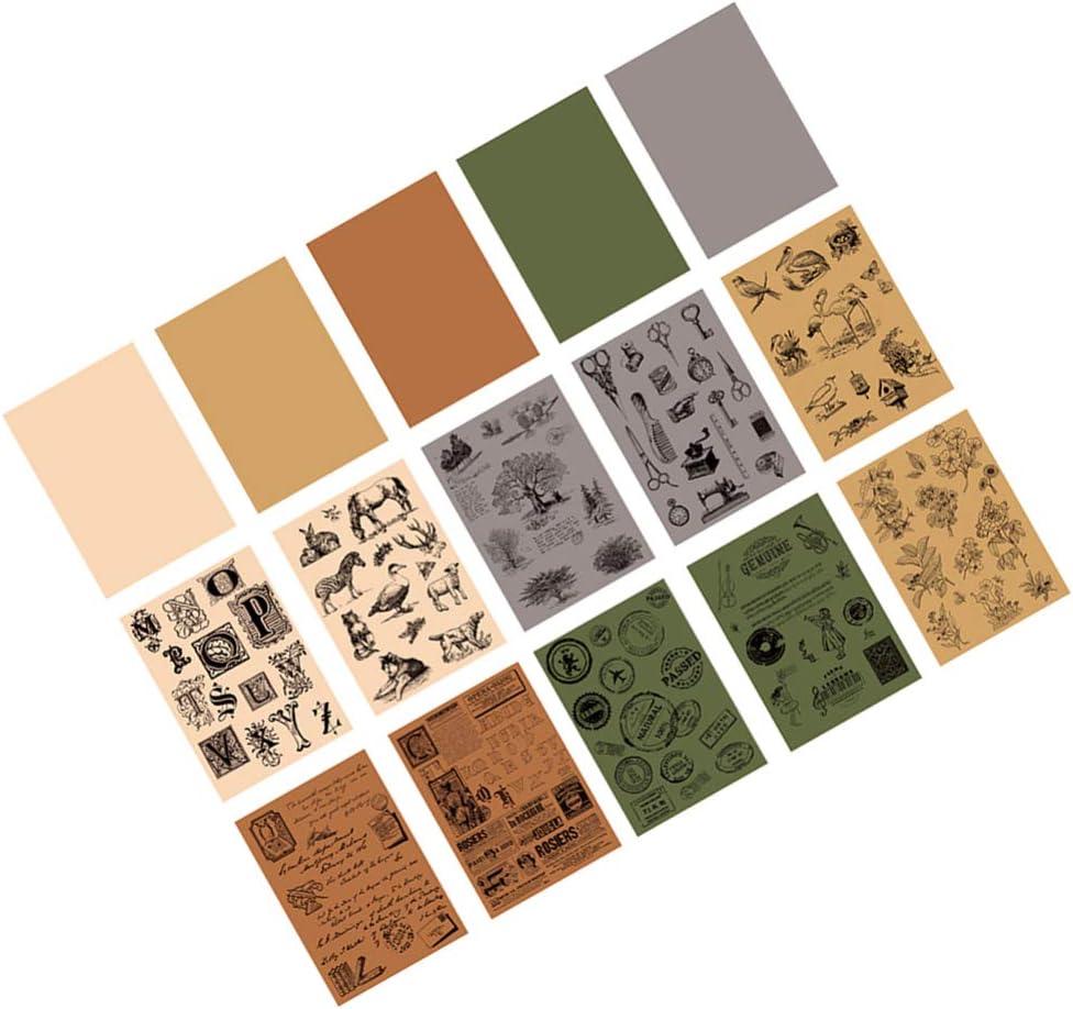 estilo a + b NUOBESTY 4 set vintage impreso papel fondo tarjeta ...