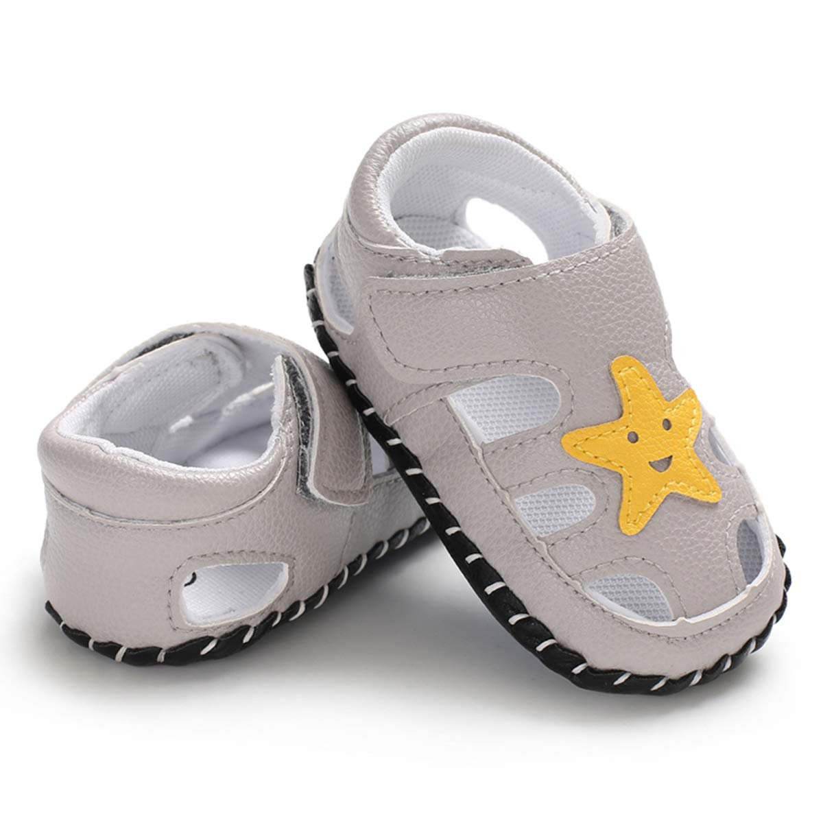 Icooltech Newborn Baby Girls Cartoon PU Leather Shoes Infant Boys Summer Outdoor Anti-Slip Sneaker