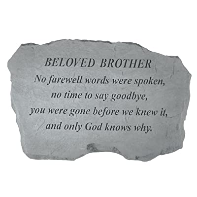 Kay Berry- Inc. 98420 Beloved Brother-No Farewell Words Were Spoken - Memorial - 16 Inches x 10.5 Inches x 1.5 Inches : Outdoor Decorative Stones : Garden & Outdoor