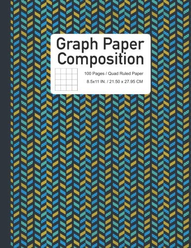 Graphing Notebook - Graph Paper Composition Notebook: Quad Ruled with Chevron Style (Graphing Paper) (Volume 5)