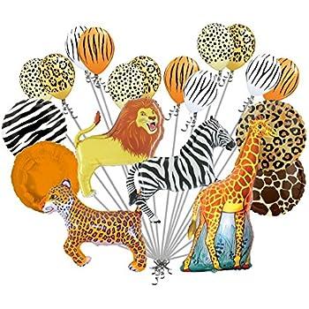 amazoncom 20 pc realistic safari balloon bouquet happy