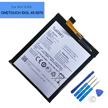 New Replacement TLP030F2 Battery Compatible with Alcatel One Touch Idol  4S,OT-6070, BlackBerry DTEK60 TLp030F1 Vodafone Smart Platinum 7