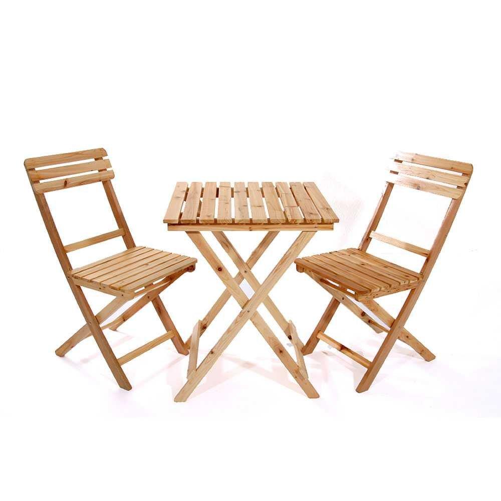 Balkonmöbel Set Favorite aus Fichte Massivholz (3-teilig) Pharao24 ...