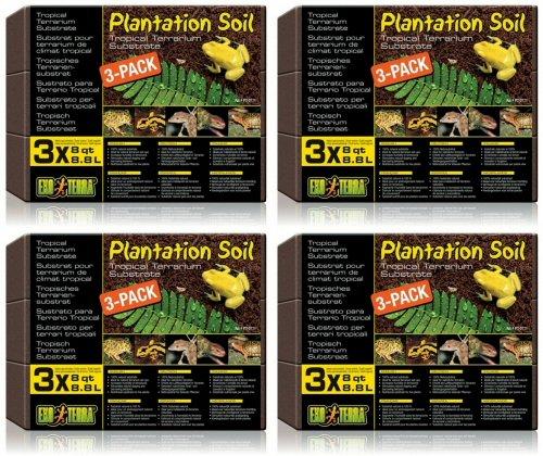Exo Terra Plantation Soil, 8 qt. 12 pack (4 x 3pk) by Exo Terra
