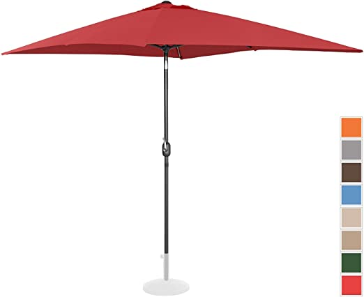 Uniprodo Sombrilla Grande Parasol De Jardín Uni_Umbrella_TSQ2030BO (Color Burdeos, Pantalla Rectangular De 200 x 300 cm, Inclinable): Amazon.es: Jardín