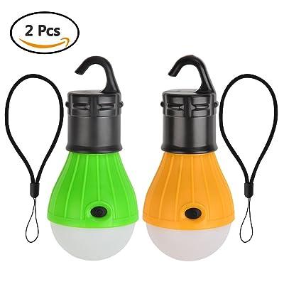 ATPWONZ 2pcs Portable LED Lanterne- Lanterne de Camping pour Camping Randonnée Pêche Lumière D'urgence