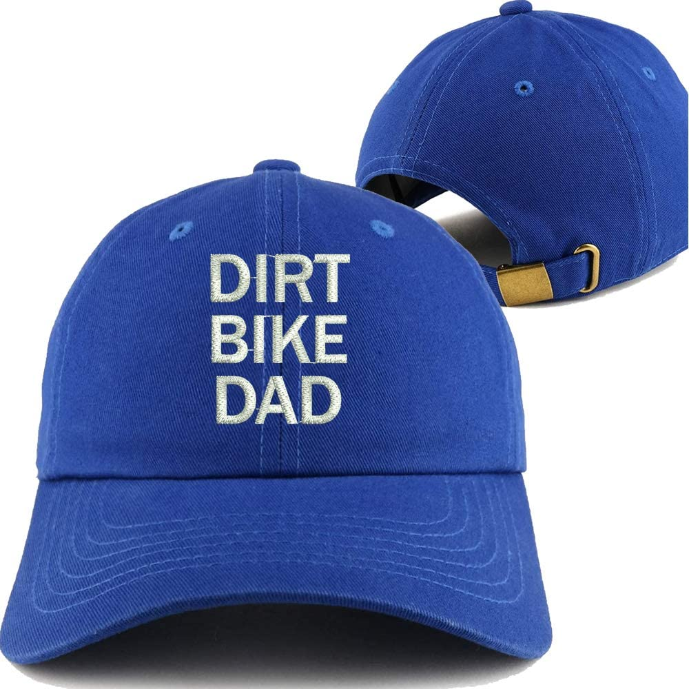 2-Pack Embroidered Dad Hat Classic Polo Style Blue Baseball Cap Dirt Bike DAD