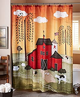The Lakeside Collection 72 Barnyard Shower Curtain