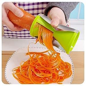 EasyKan Premium Stainless Steel Vegetable Spiralizer, Vegetable Slicer&Carrot Spiralizer,Perfect Easy-using Hand-hold Carrot Slicer for Making Noodle Pasta
