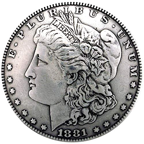 "Concho 1-3/8"" Antique Silver 1/Pkg-Morgan Dollar Heads (BC1932-01) from Silver Creek"