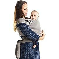 Boba – Elastic Baby Carrier Wrap Bamboo, Light Grey