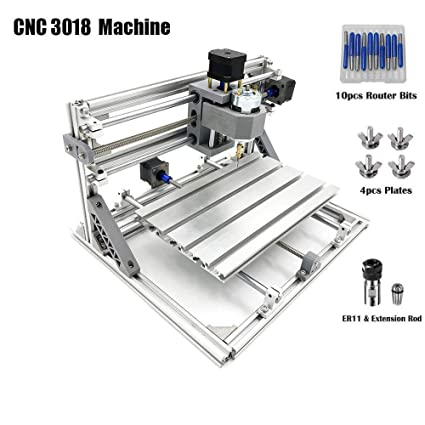 MYSWEETY DIY CNC Router Engraving Kit, Working Area 30x18x4 5cm, DIY CNC  Router Milling Machine 3 Axis Mini Wood PCB Acrylic Metal Engraving Carving