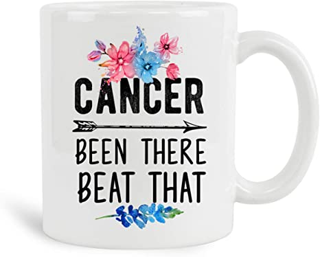 Amazon Com Cancer Been There Beat That Mug With Wood Gift Box 11 Oz Coffee Mugs Gifts For Cancer Chemotherapy Gifts For Women Cancer Survivor Coffee Tea Cups Inspirational Gifts Fight Cancer Ideas