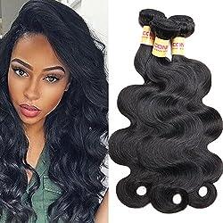 Connie Hair 8A Peruvian Body Wave 3 Bundles Unprocessed Virgin Human Hair Weave Weft Mixed Length 18 20 22 Natural Black Total 300g