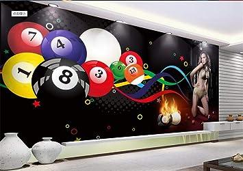 Papel Pintado Mural Personalizado 3D Bola De Billar Sexy Beauty ...