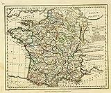 1804 School Atlas   Gallia. France. E.P. delin. Neele sculp, 352 Strand. Published June 15, 1804 by the Revd. E. Patteson, M.A., Richmond, Surrey.   Antique Vintage Map Reprint