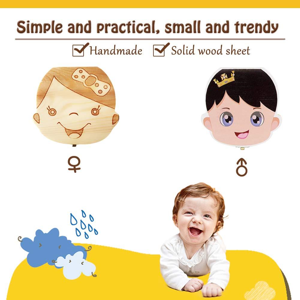12.5 x 11.5 x 3 cm INTVN Denti Salva Box 2 Luci Scatola di denti per bambini Dente Da Latte Scatola Per Denti da latte per i bambini Ragazzo e Ragazza