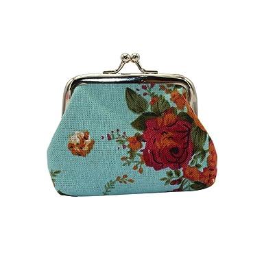gzzebo Vintage Rose Flower Women Coin Purse Card Bag Mini ...