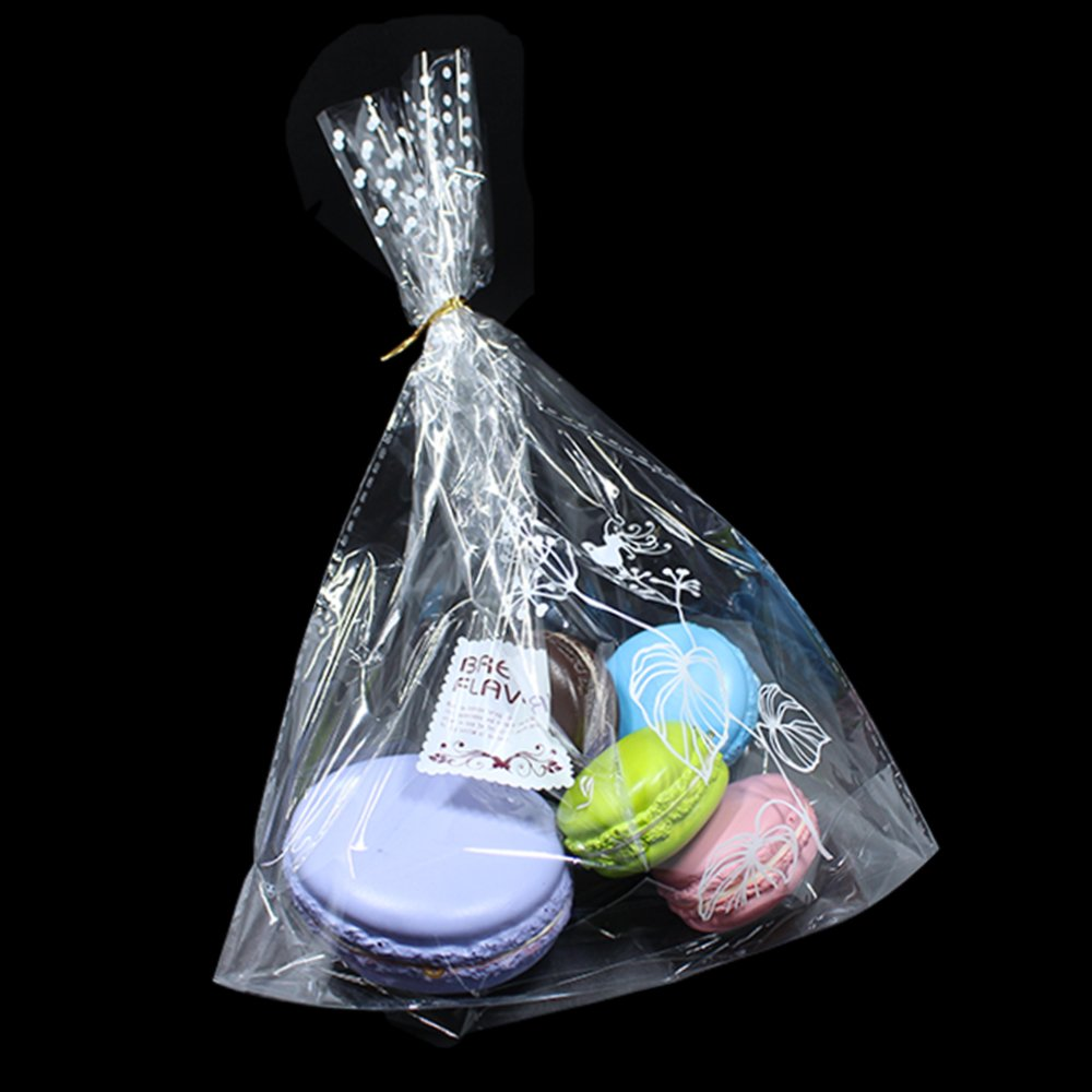 23x30+6cm (9.1x11.8+2.4 inch) Safety Food Grade Bread Cookie Storage Plastic Bags with Twist Ties Reusable Grocery Bakery Bag DIY Macaron Gift Favor Keep Fresh Bulk Food Storage Wrapping (800, Type#3) by BAT Pack