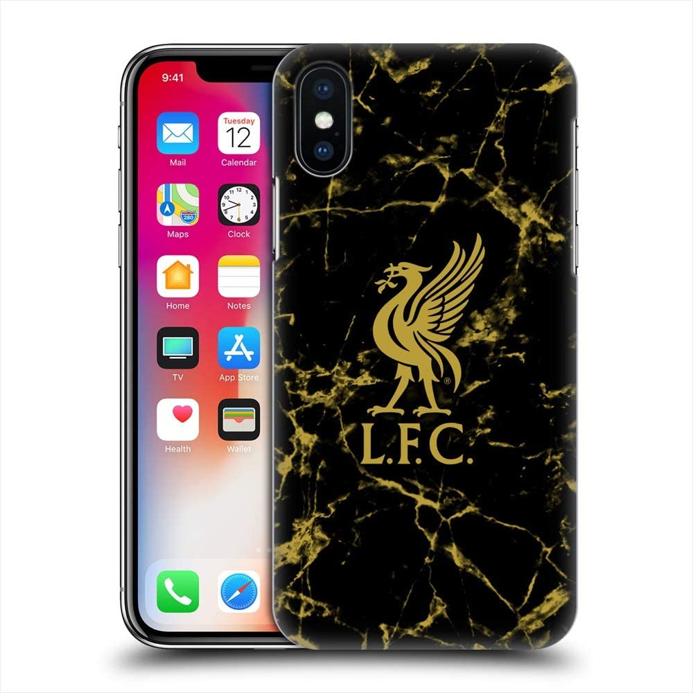Amazon Co Jp Liverpool Fc Liverpool Fc Black Gold Marble Hard Case Iphone Case Official Official Electronics Cameras
