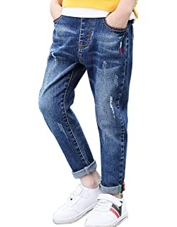 NABER Boys Cool Gradient Soft Denim Elastic Waist Slim Jeans Age 3-13 Years
