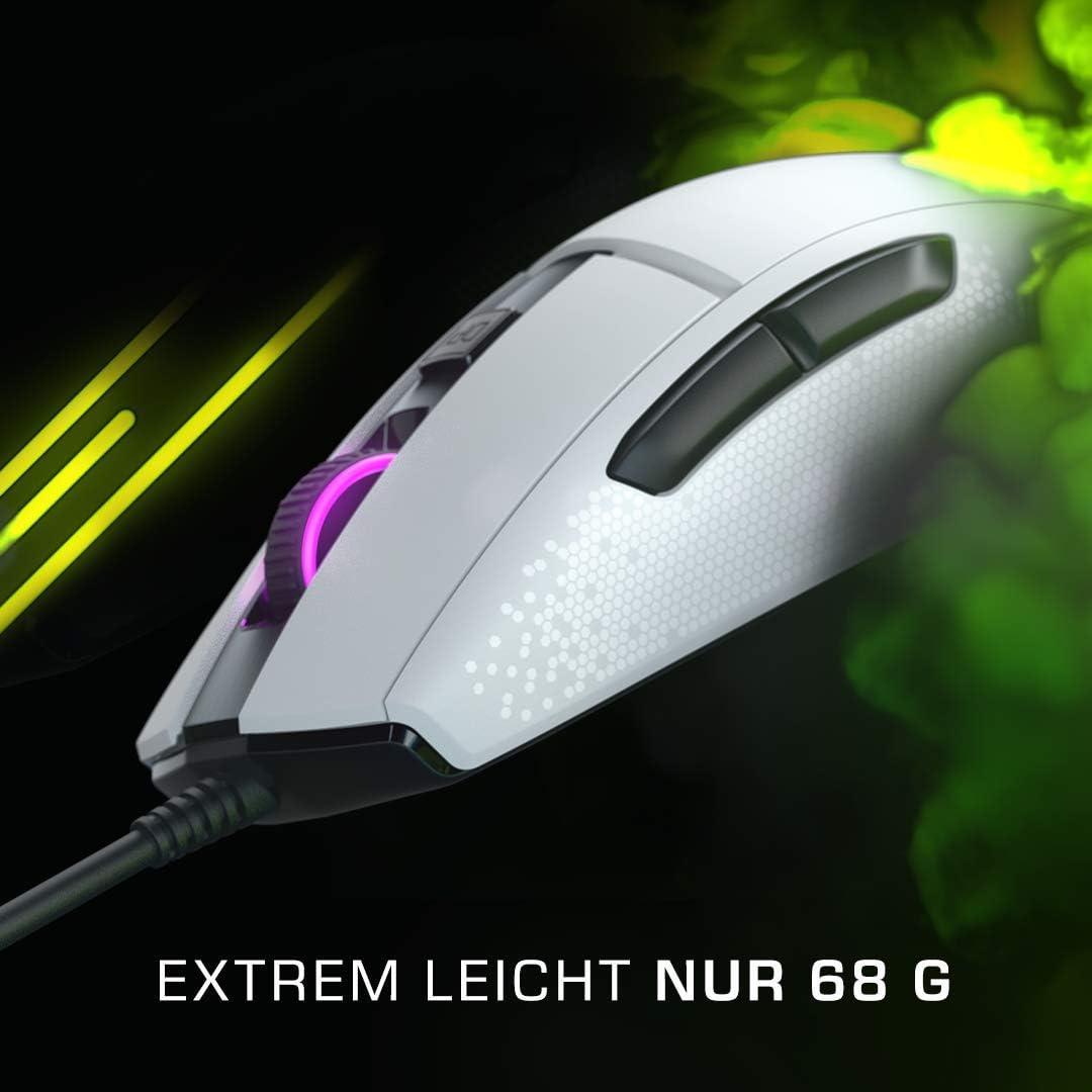 Roccat Burst Extrem Leichte Optical Core Gaming Maus Hohe Präzision Optiksensor 8 500 Dpi 68g Leicht Designt In Deutschland Weiß Games