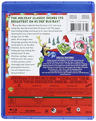 dr seuss how the grinch stole christmas bluray