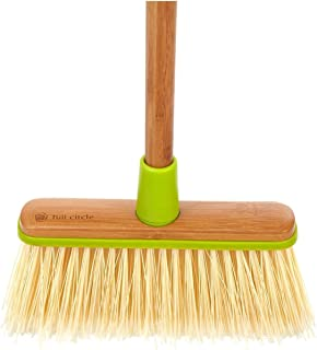 full circle clean sweep angled broom with bamboo handle