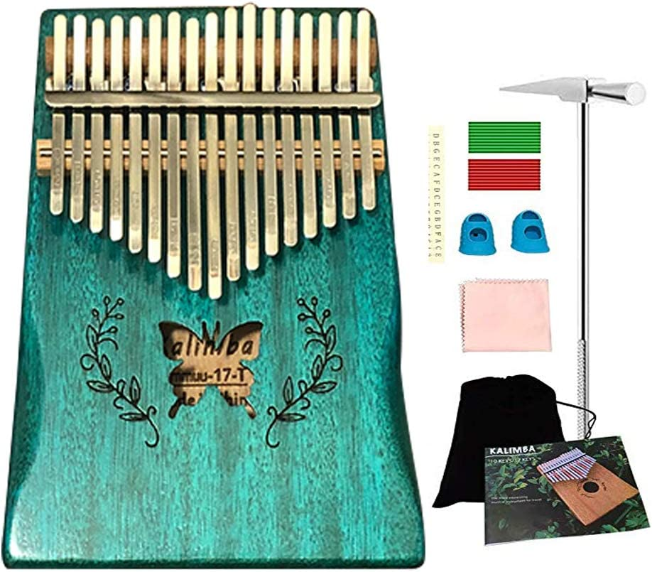 Ationgle Luxury Kalimba - 17 Keys Thumb Piano Include Tuning Hammer and Study Instruction