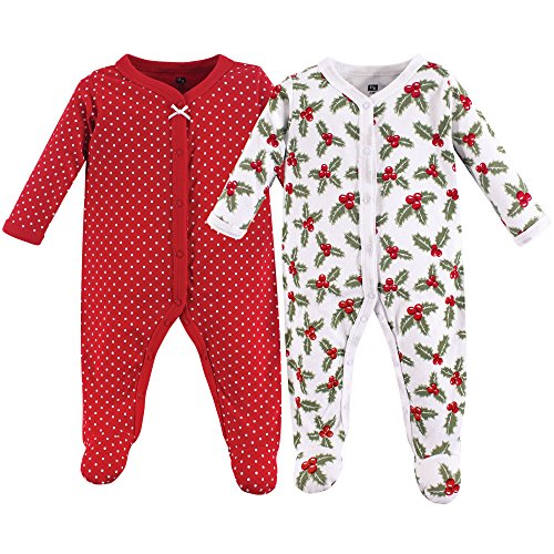 Hudson Baby Unisex Baby Sleep and Play, Holly, 6-9 Months (9M)]()