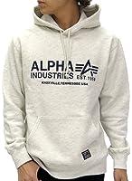 ALPHA INDUSTRIES INC(アルファ インダストリーズ) パーカー プルオーバー ロゴ プリント 裏起毛 メンズ