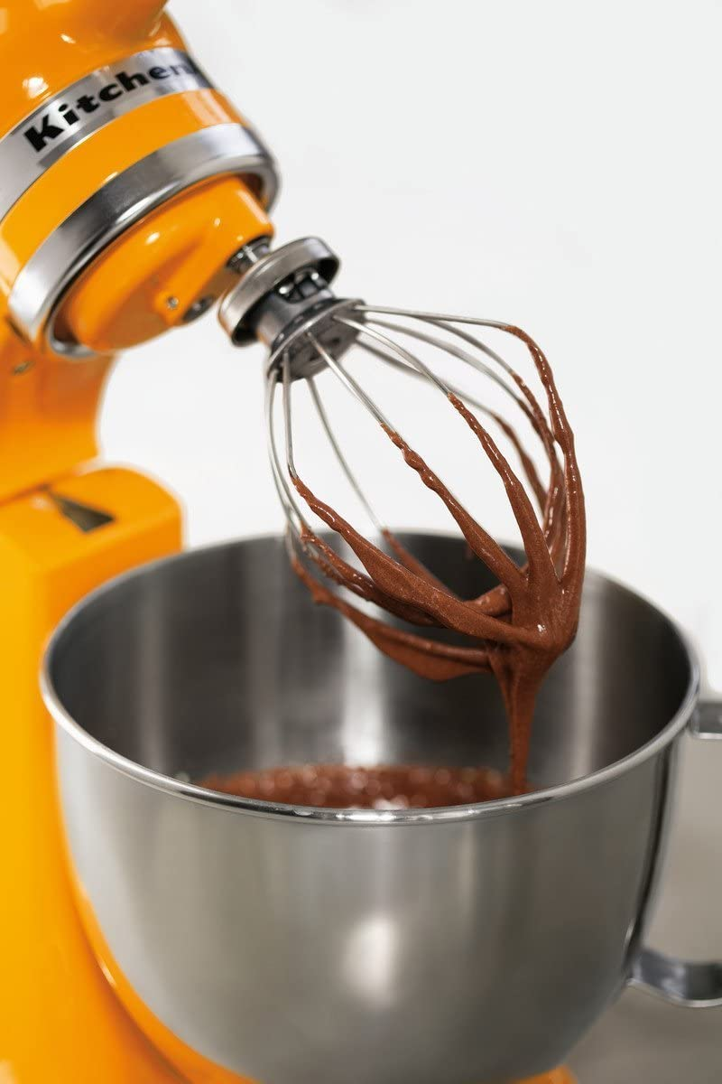 K45WW Wire Whip Attachment for Tilt-Head Stand Mixer for KitchenAid, Stainless Steel Egg Cream Stirrer, Flour Cake Balloon Whisk