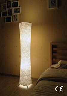 Raffles wicker floor lamp amazon kitchen home standard lamp deessin modern design fabric soft lighting floor lamps for living room and bedroom aloadofball Images