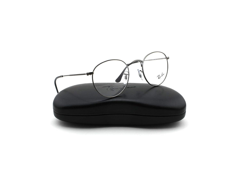 a3161c003 Amazon.com: Ray-Ban RX3447V Round Metal Unisex Eyeglasses Matte Gunmetal  2620, 47mm: Clothing