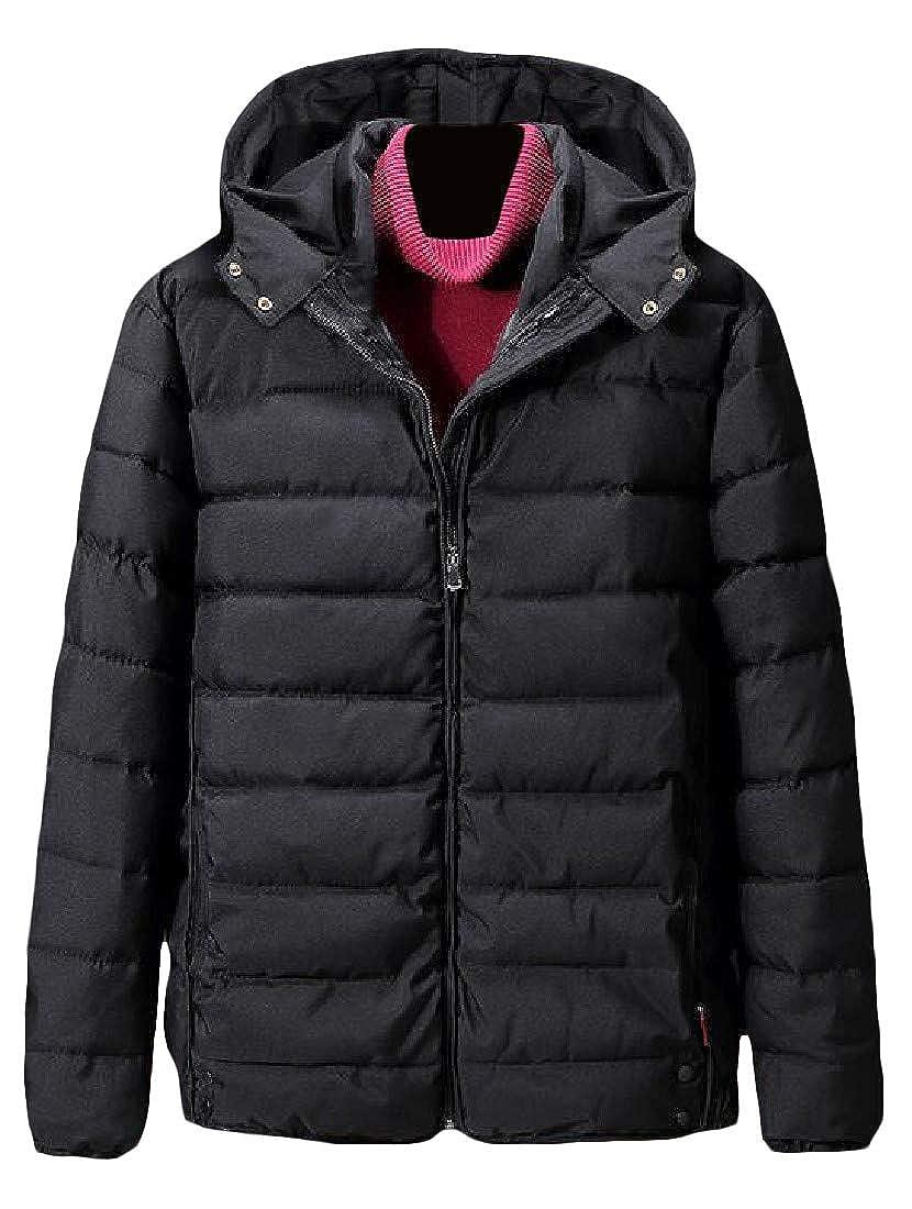 XiaoTianXinMen XTX Mens Puffer Hooded Big and Tall Camo Outwear Parka Jackets Coat