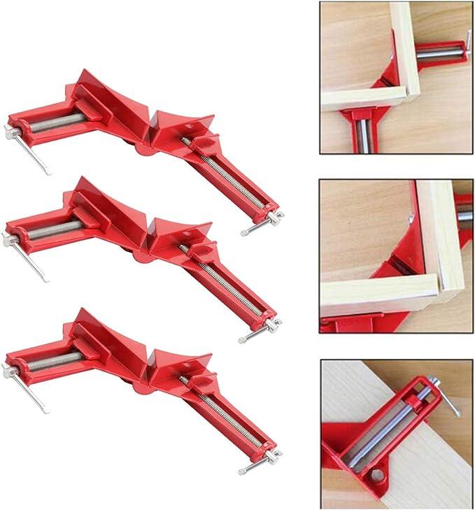 4 Pcs Winkelspanner verstellbar DIY Handwerkzeuge Eckklemme. 90 Grad Rechts Winkel Klemme rechtwinklige Klemme f/ür Holzarbeiten