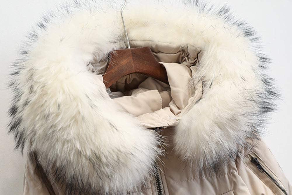 YRFDM Doudoune,Veste d'hiver Femmes Nouvelles Femmes Chaudes Manteau d'hiver Grand Vraicol à Capuche épais Mince Femme Parka Femmes Doudounes Beige