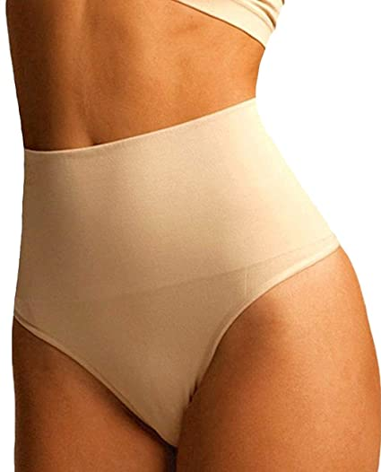 6be57df3e4f Image Unavailable. Image not available for. Color  FLORATA Women Waist  Cincher Girdle Tummy Slimmer Sexy Thong Panty Shapewear Postpartum Underwear