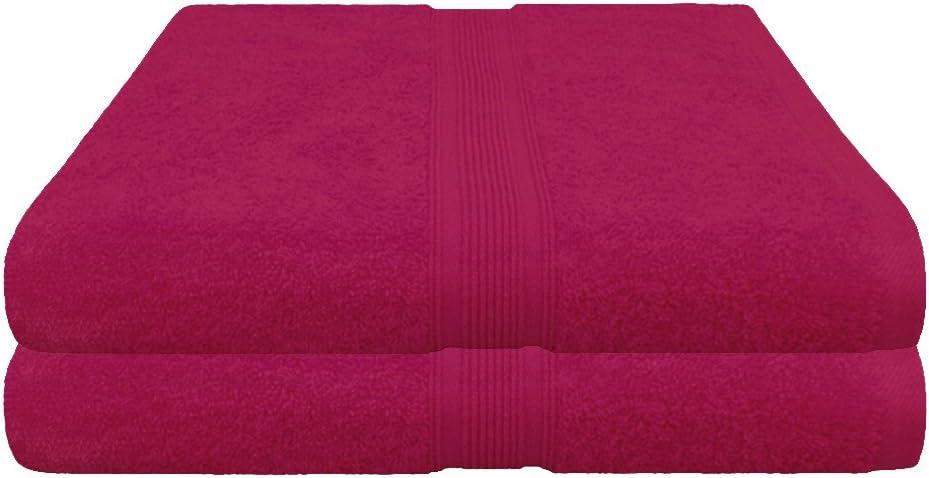 taglia XXL 80x200 cm in cotone al 100/% di qualit/à 500g//m/² dimensioni 80 x 200 Pink Asciugamano per la sauna in spugna 100/%  cotone 2 pezzi 80 x 200 cm disponibile in 19 colori